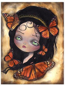Monarcha by Abril Andrade Fine Art Print Big Eye Character Monarch Butterfly