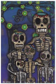 Our Family by Abril Andrade Fine Art Print Sugar Skull Day of the Dead