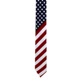 Wider USA flag novelty men's tie.