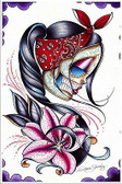 Star Gazer by Dave Sanchez Fine Art Print Day of the Dead Sugar Skull