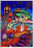 Dark Desert Highway by Dave Sanchez Fine Art Print Day of the Dead Sugar Skull