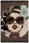 Glam by Amy Dowell Fine Art Print Rockabilly Pin Up Girl