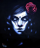 Crying Rose by Randy Drako Canvas Giclee