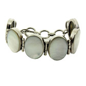 Mother of Pearl sterling silver bracelet.