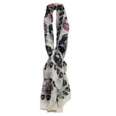 Off White Day of the Dead skull scarf.