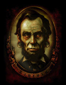 Abraham Lincoln by Marcus Jones Screaming Demons Canvas Giclee