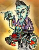 Even Nosferatu Likes Elvis by Sid Stankovits Canvas Giclee Art Print