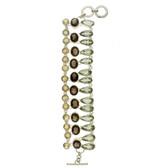 Semi precious stone sterling silver bracelet.