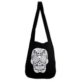 White Sugar Skull Sling Bag Purse