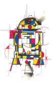 Hek Droid R2-D2 Art Print