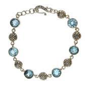 Blue Topaz sterling silver bracelet.