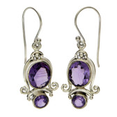 Quality Amethyst sterling silver earrings.