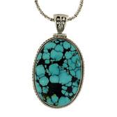 Large Turquoise pendant.