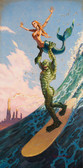 Damian Fulton Maid In Heaven Canvas Giclee