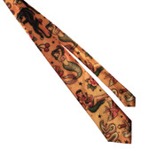 Old School Tattoo Men's Tie