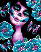 Carissa Rose Memento Sugar Skull Canvas Giclee