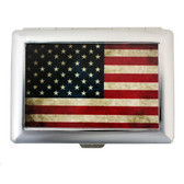American flag cigarette or business card case.