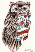 Rick Walters Owl Sugar Skull Fine Art Print