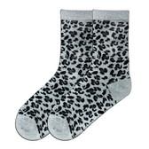 Women's Leopard Animal Print Crew Socks