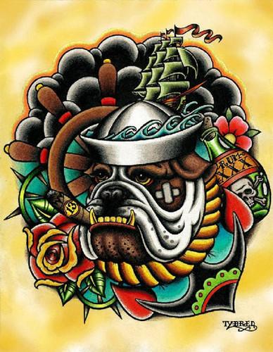 Tyler Bredeweg - Bull Dog - Canvas Giclee