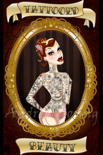 Andrea Young - Tattooed Beauty - Fine Art Print