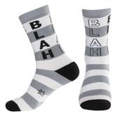 Men's or Women's BLAH Striped Crew Sock