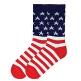 Men's Crew Socks American Flag