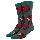 Men's Bamboo Crew Socks Indian Chief