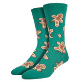 Men's Crew Socks Christmas Holiday Ginger Dead Men