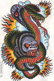 Gorilla Cobra by Josh Persons Traditional Style Fine Art Print