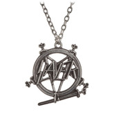 Alchemy Rocks Slayer Pentagram Pendant Necklace Pewter Jewelry PP508