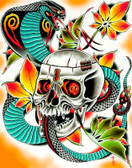 Key Master by Tyler Bredeweg Canvas Giclee Skull and Snake