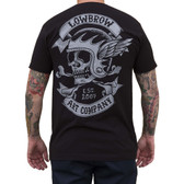 Fury Road Skull by Adi Men's Black Tattoo Tee Shirt