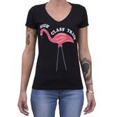 High Class Trash Lowbrow Art Pink Flamingo Rockabilly Tee Shirt