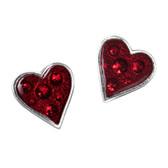 Alchemy Gothic Heart's Blood Earrings Pewter Jewelry E332