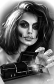 Open Coffin by Horbe Canvas Giclee Art Print Sexy Woman Sugar Skull