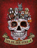 Dia De Los Perros by David Lozeau Canvas Giclee Day of the Dead Dogs Sugar Skull