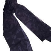 Gothic Skulls Fashion Scarf Shawl Wrap