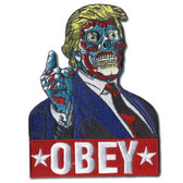 Mitch O'Connell Trump Obey Zombie Monster Patch Embroidered Iron On Applique