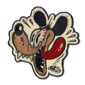 Shawn Dickinson Outhouse Rat Patch Goofy Dog Embroidered Iron On Applique