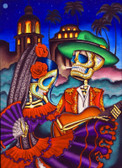 Dark Desert Highway by Dave Sanchez Canvas Giclee Art Print Day of the Dead Sugar Skull