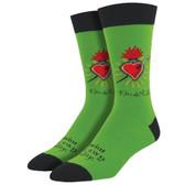 Men's Crew Socks Frida Everlasting Heart Clover Green