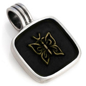BICO Pacific Australia Jewelry PAPILLION Butterfly Pewter Pendant B15 Black
