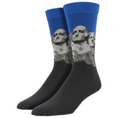Men's Bamboo Crew Socks Mount Rushmore Presidents