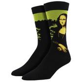 Men's Bamboo Crew Socks Mona Lisa Leonard Da Vinci Painting