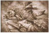 Ghost Rider Skull Horse Skeleton by Dan Scholz Tattoo Fine Art Print