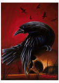 Crow Gothic Raven Skull by James Strickland Tattoo Fine Art Print