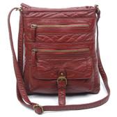 The Danni Crossbody Purse Burgundy Vegan Leather Shoulder Bag