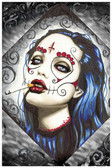 Angelina by Shayne of the Dead Bohner Fine Art Print Sugar Skull Mask