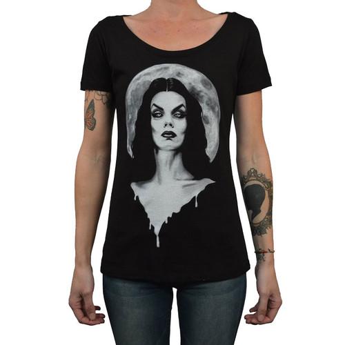 Moonlight by Shayne of the Dead Bohner Women's Tattoo Art Tee Shirt Vampire